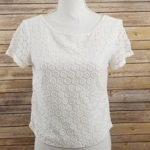 Lilly Pulitzer White Lace Shirt